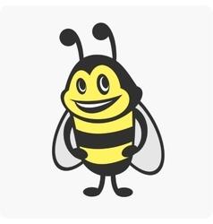 Little bee character vector image