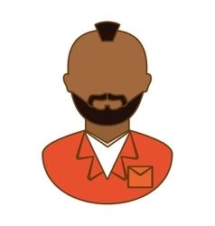 orange arrested man icon image vector image vector image