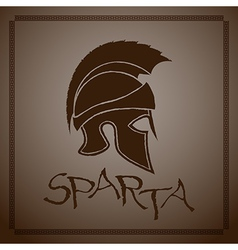 Silhouette Ancient Greek Helmet with a Crest vector image vector image