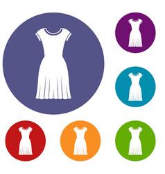 woman dress icons set vector image vector image
