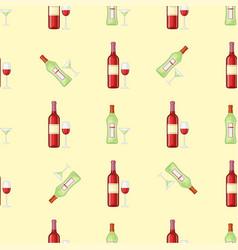 alcohol drinks beverages cocktail bottle seamless vector image
