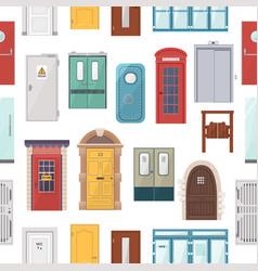 doors set house doorway front entrance to vector image