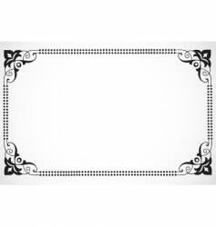 dot frame vector image vector image