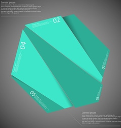 Hexagon motif randomly divided to five green parts vector image vector image