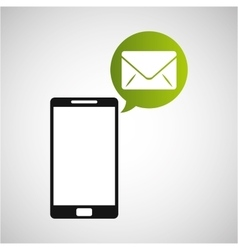 smartphone and envelope email application vector image