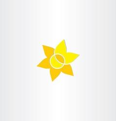 yellow sun flower icon vector image