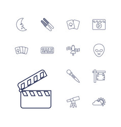 13 space icons vector
