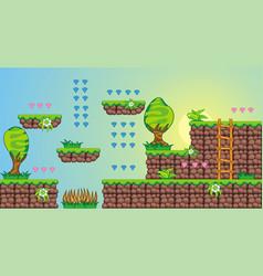 2d tileset platform game 7 vector