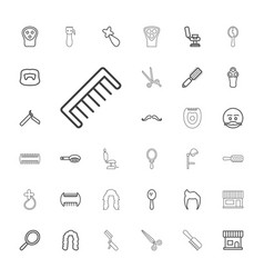 33 barber icons vector