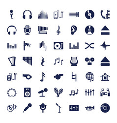 49 sound icons vector
