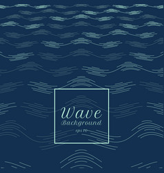 abstract blue water wave line pattern perspective vector image