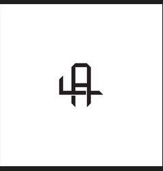 Al initial letter overlapping interlock logo vector