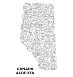 Alberta province map of points vector