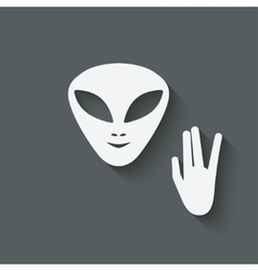 Alien head sign vector