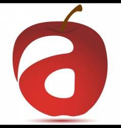 apple with text vector image