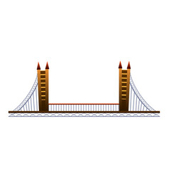 Architecture bridge icon cartoon style vector