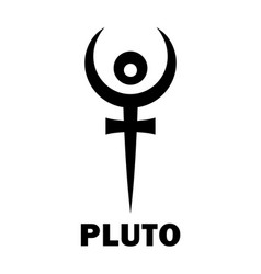 Astrology planet pluto hades vector