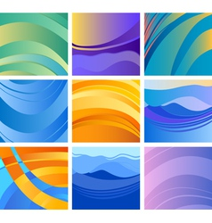 background abstract design set vector image