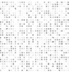 black and white abstract dot pattern vector image