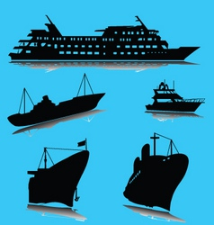 boats silhouette vector image
