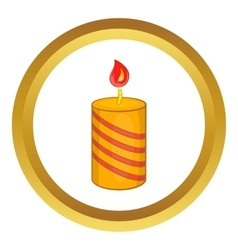 Burning candle icon vector