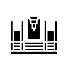 Butt welding machine glyph icon vector