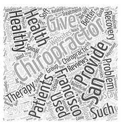 Chiropractor san francisco Word Cloud Concept vector