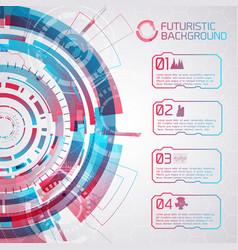 colorful futuristic background concept vector image