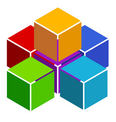 cubes abstract 3d multicolor element on white vector image