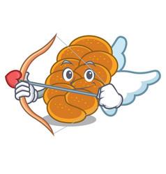 Cupid challah character cartoon style vector