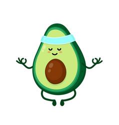 cute smiling happy strong avocado vector image