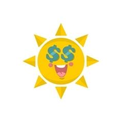 Cute sun vector