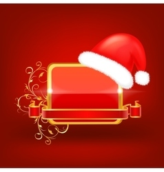 Decorative christmas frame vector