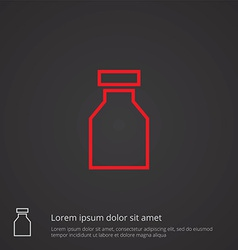 Drugs outline symbol red on dark background logo vector