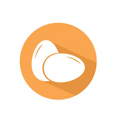 egg icon button two eggs icon concept for web vector image