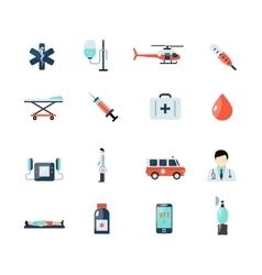 Emergency Paramedic Icons Set vector image