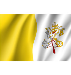 Flag of vatican city state vector