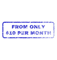 From only dollar 10 per month rubber stamp vector