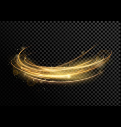 golden dynamick lights and vector image