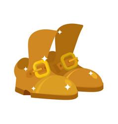 golden shoes precious footwear fashion royal vector image