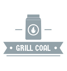 grill coal logo simple gray style vector image