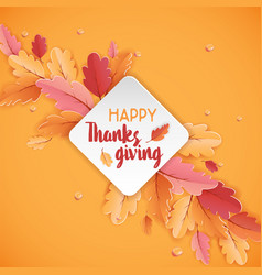 Happy thanksgiving holiday typography poster vector