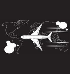 intercontinental flight passenger aircraft vector image