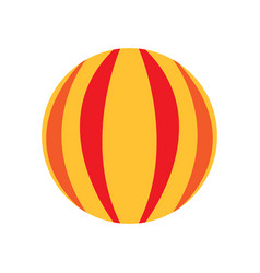 isolated carnival ball icon vector image