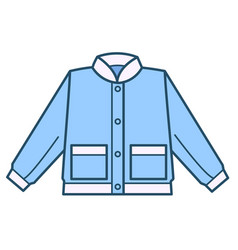 jacket or shirt for boys kid clothes store vector image
