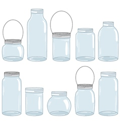 Jars Set vector image
