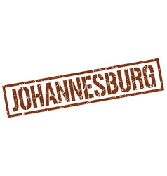 Johannesburg brown square stamp vector