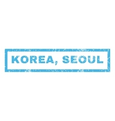 Korea Seoul Rubber Stamp vector image