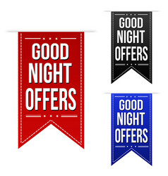 Late night offer banner design set vector