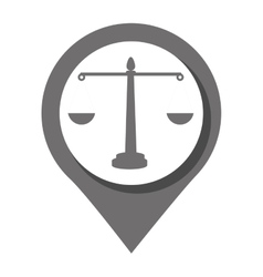 Law and order Round icon graphic vector